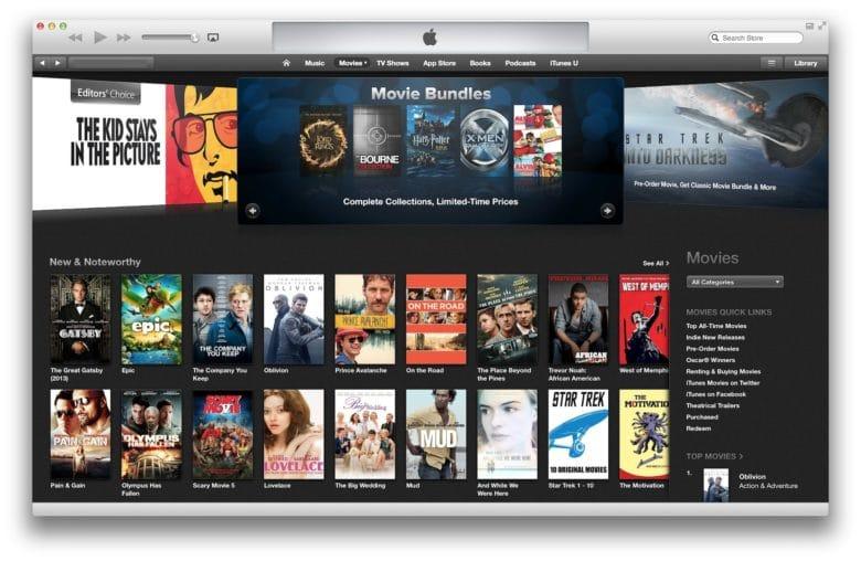 Serviços de streaming, iTunes