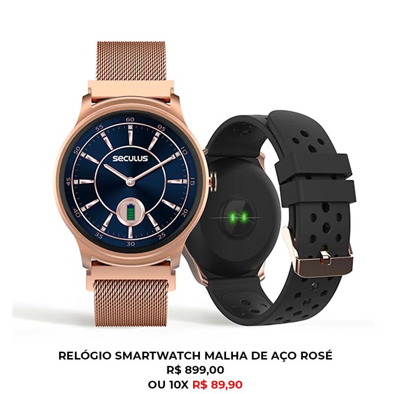 RELÓGIO SMARTWATCH MALHA DE AÇO ROSÉ - Smartwatch em casa: como ele pode dar um up na sua rotina