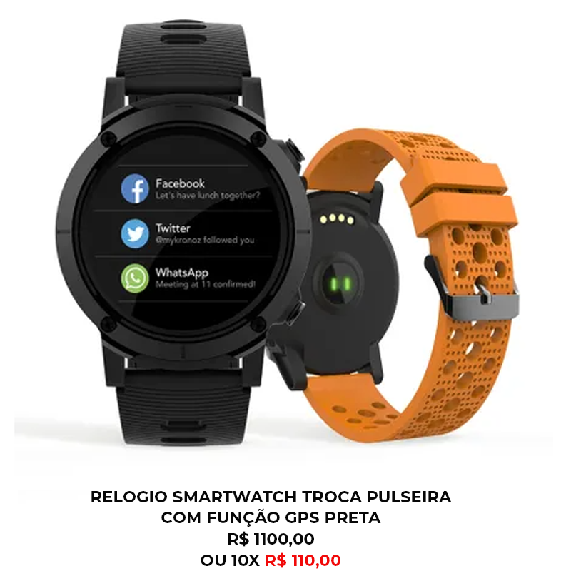 RELÓGIO SMARTWATCH TROCA PULSEIRA COM FUNÇÃO GPS PRETA - Smartwatch em casa: como ele pode dar um up na sua rotina