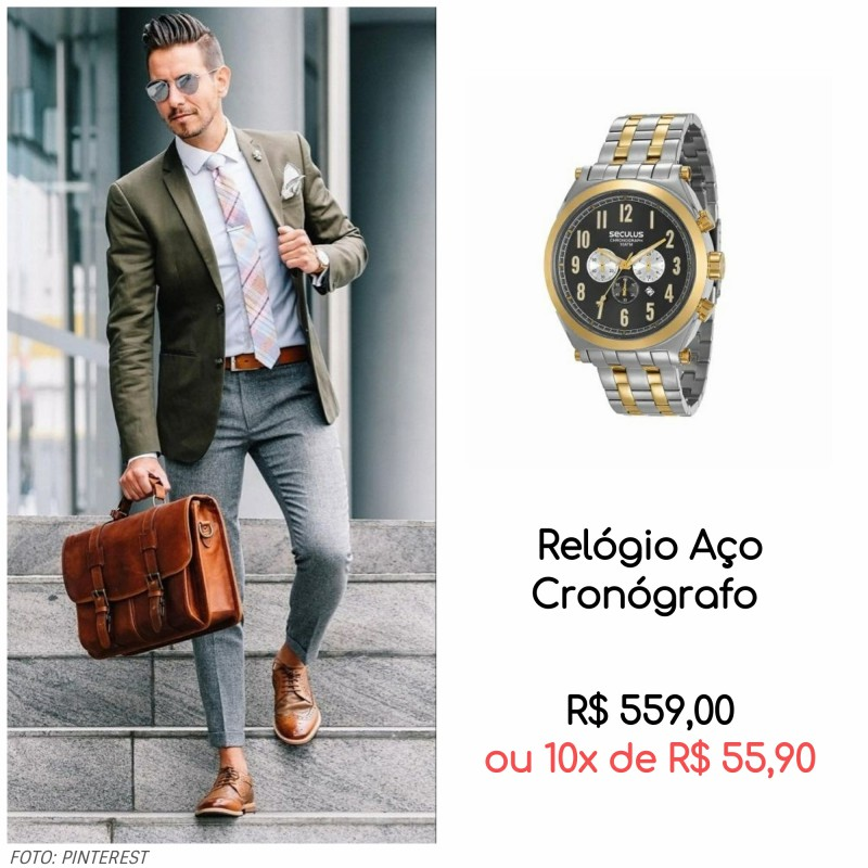 Será que o seu relógio combina com sua roupa - Será que o seu relógio combina com sua roupa? Descubra!